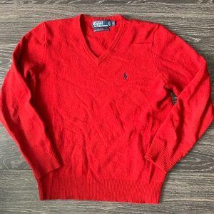 Polo Ralph Lauren 100% LAMBS WOOL V Neck Sweater
